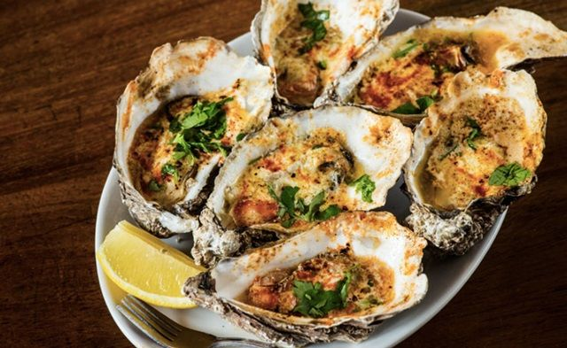 New Orleans-Style Chargrilled Oysters, Decatur. Druid St Market @ Bermondsey, £2.50 for one, £6.50 for three
