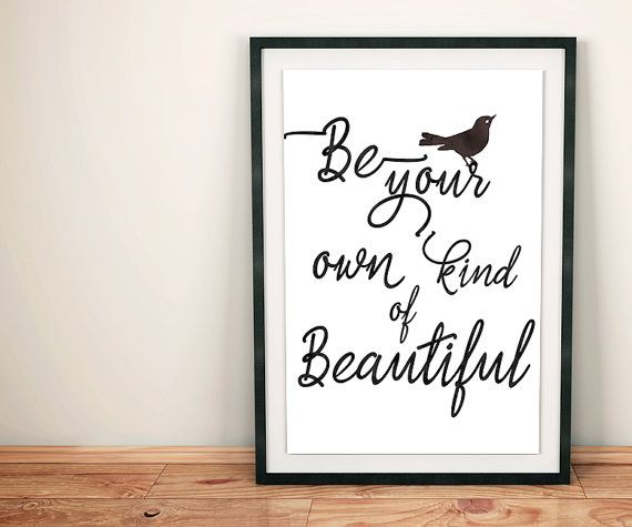 70% OFF SALE / Be your own kind of beautiful / by NeedForPrint