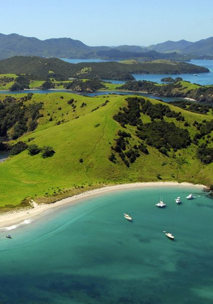 Bay of Islands,New Zealand. Typically over-crowded beach. ;-)