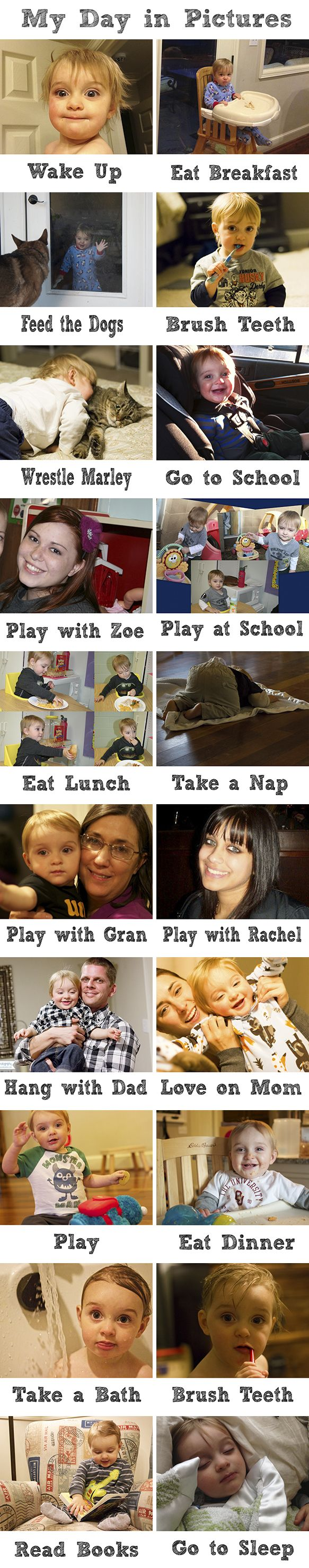 Around the Farmhouse Table :: Picture Schedule aka Toddler Watch