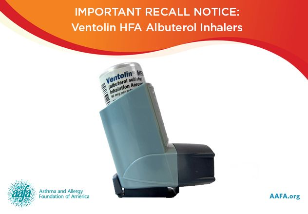 GlaxoSmithKline Recalls Ventolin HFA Albuterol Sulfate