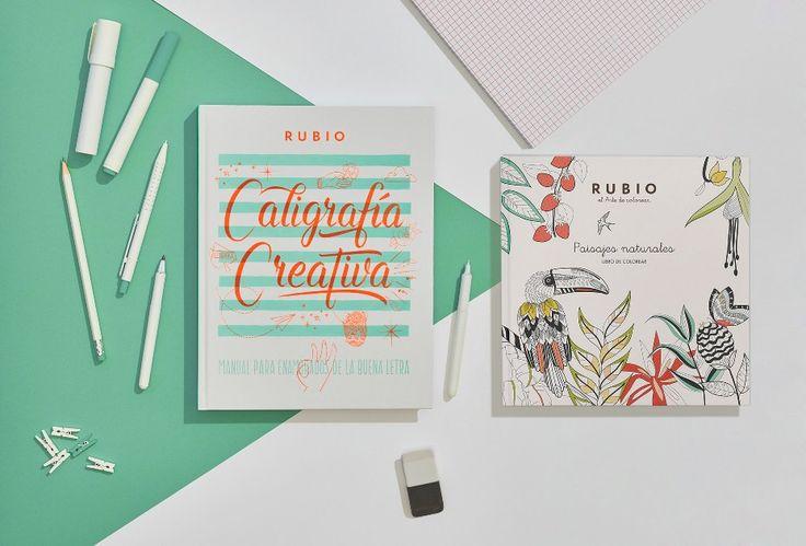 Caligrafía creativa Rubio (lettering) y libro de colorear con mandalas Paisajes naturales. Envío gratuito.