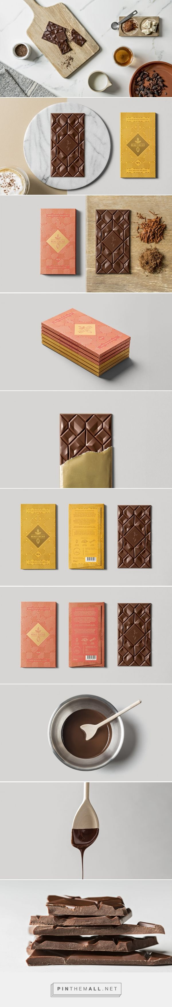 Beau Cacao - Packaging of the World - Creative Package Design Gallery - http://www.packagingoftheworld.com/2017/01/beau-cacao.html