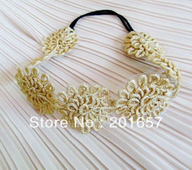 Wholesale and Retail korea style sunflower lace headbands hiar accessory 12pcs/lot $23.00