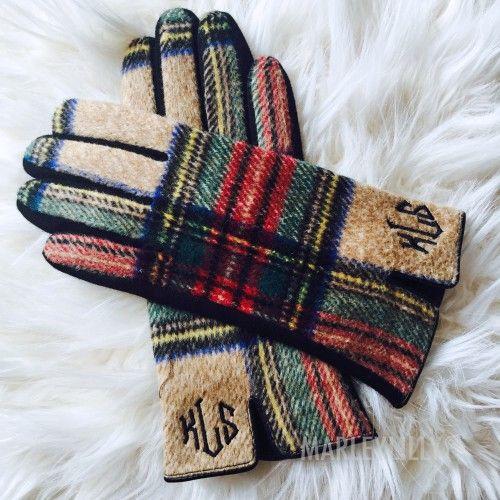 Monogrammed Gloves | Marleylilly