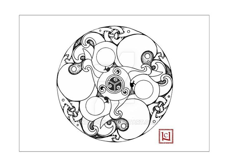 .Invasive. celtic line-art by one-rook