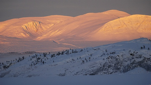 The sun north of the Arctic circle, Sweden