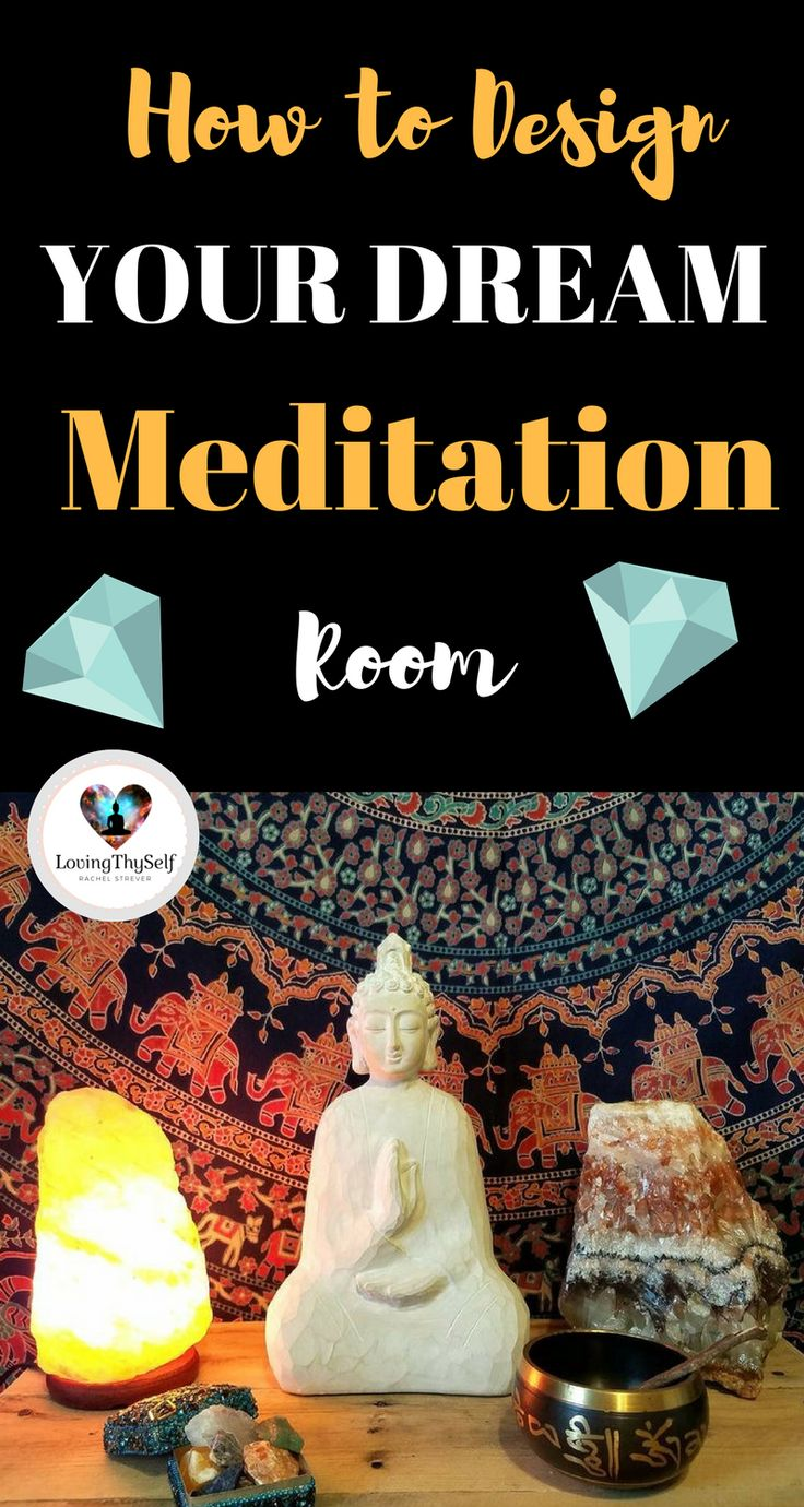 Home decor.how to design your dream meditation room with these 5 simple steps that will allow you to breathe with ease and de-stress. It's a great guide for beginners. https://lovingthyself.net/design-your-dream-meditation-room/. #meditation #room