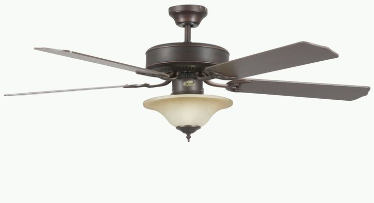 """Concord 52HES5E Heritage Square 52"""" 5 Blade Indoor Ceiling Fan with Light Kit D Oil Rubbed Bronze / Oil Rubbed Bronze Blades Fans Ceiling Fans Indoor"""