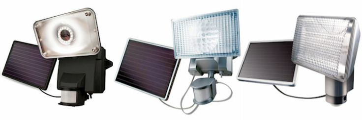 NEW LED Solar Security lights featuring PIR (Passive Infrared Sensor) Technology meet all the specifications of home security excellence!