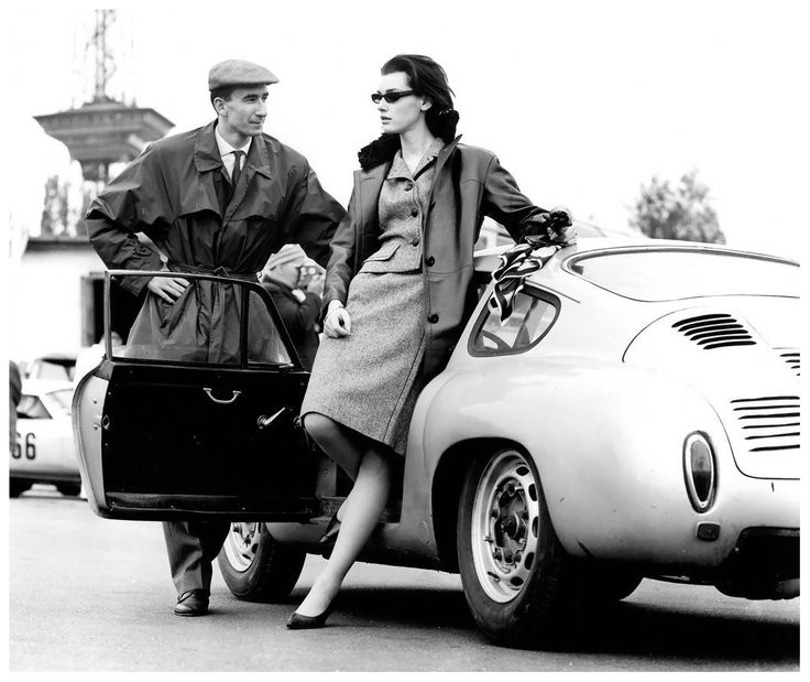 (♥) Judy Dent on the Avus race and test track in Berlin, photo by F.C. Gundlach, 1962