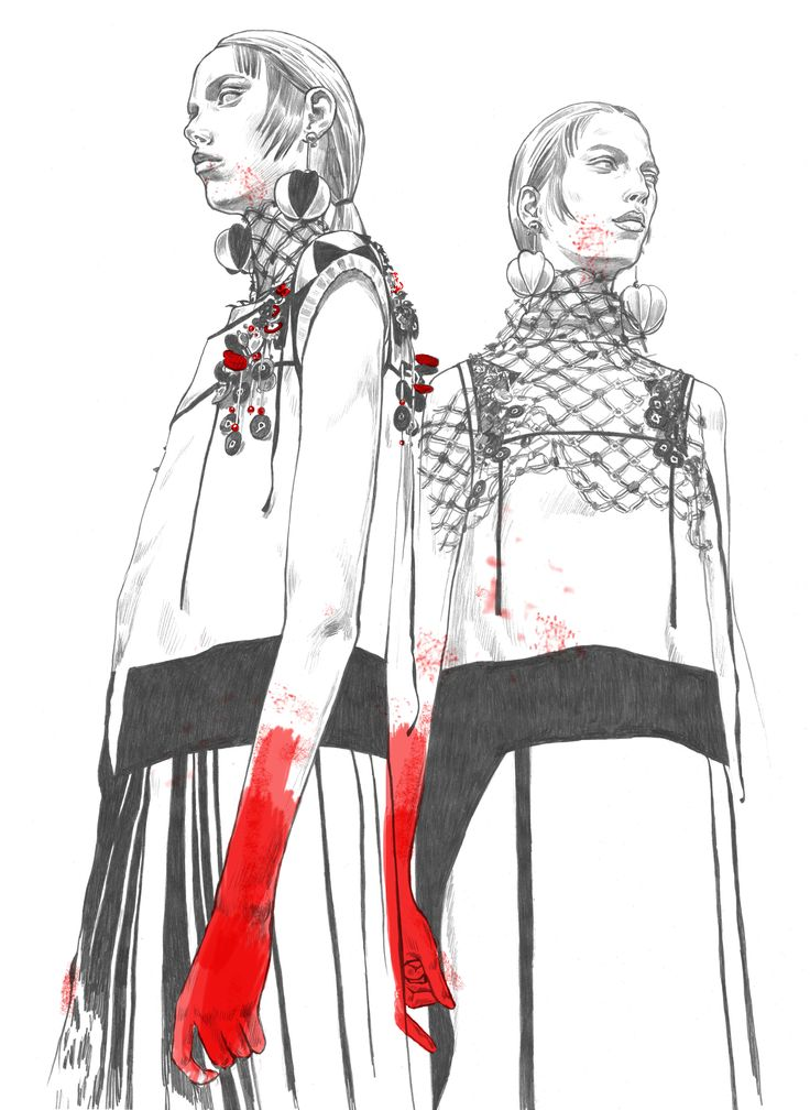 Fashion illustration. Fast sketches, daily sketches.