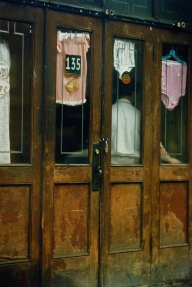 Saul Leiter: Early Color 2005 2006 howard greenberg gallery. Lingerie shop, 1952