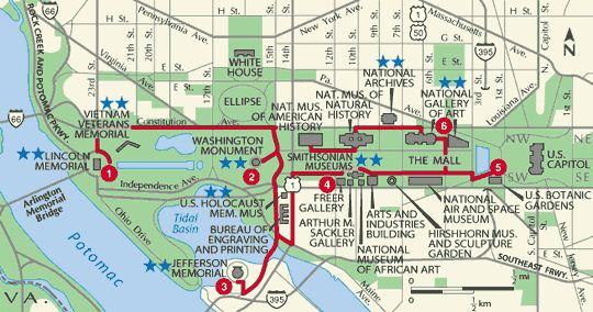 tourist map of dc | Printable Map Of Dc Attractions
