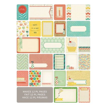 Remember the highlights of your year with these Project Life Themed Cards.