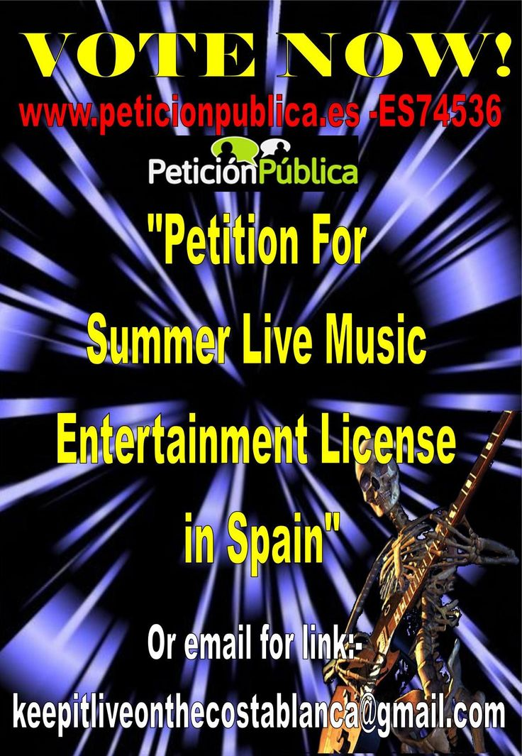 Spanish Summer Music Petition  KEEP ENTERTAINMENT LIVE ON THE COSTA BLANCA(AND SPAIN)​