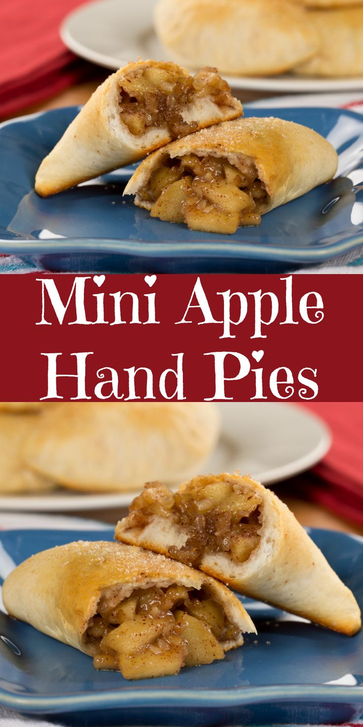 Our Mini Apple Hand Pies are filled with the old-fashioned apple pie taste you love!