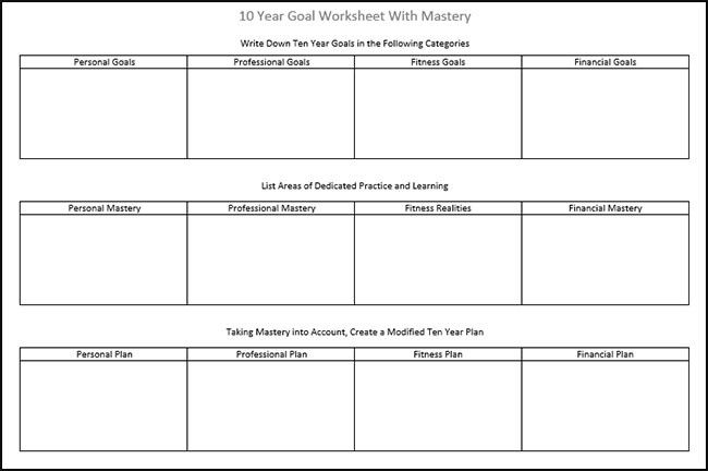 20 10 Year Career Plan Template In 2020 Life Goals List Smart