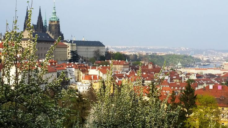 View over the Lesser Town towards Prague Castle. The Best time to visit Prague is in the Spring.