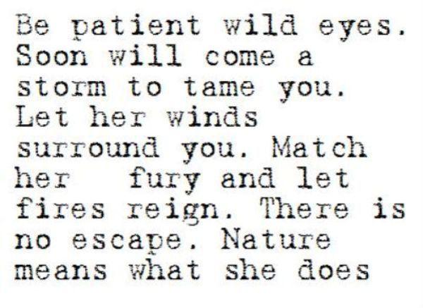 wild eyes.....