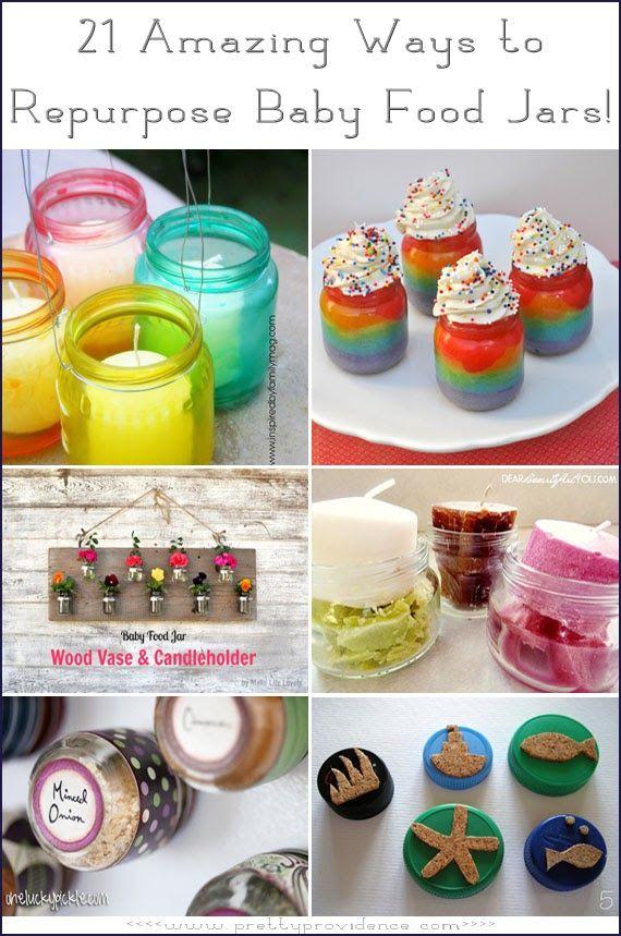 21 Amazing Ways to Repurpose Baby Food Jars! {www.prettyprovidence.com}