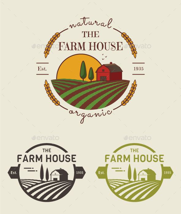 Farm Logo Template PSD, Vector EPS, AI Illustrator. Download here: https://graphicriver.net/item/farm-logo-templates/17090451?ref=ksioks