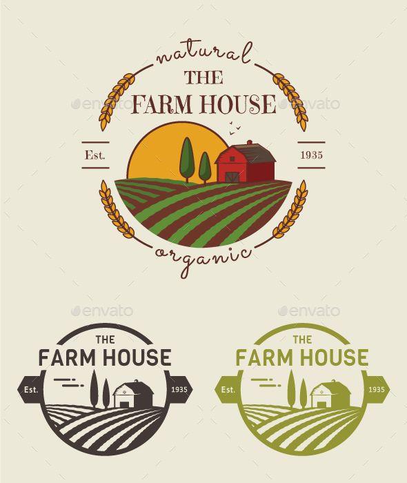 Farm Logo Template PSD, Vector EPS, AI Illustrator. Download here: https://graphicriver.net/item/farm-logo-templates/17090451?ref=ksioks