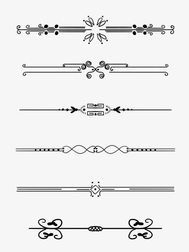 European Border Pattern Dividing Line Commonly Used Retro Commercial Elements Pattern Frame Dividing Line Png Transparent Clipart Image And Psd File For Free Border Pattern Art Deco Borders Graphic Design Background
