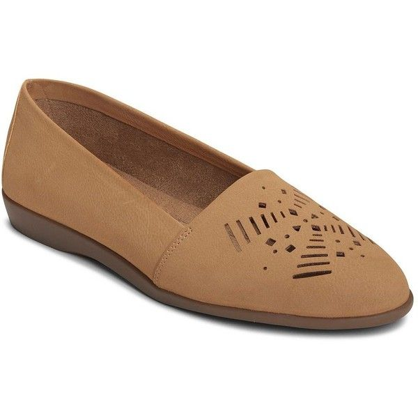 A2 by Aerosoles Trend Right Women's Ballet Flats (315 SEK) ❤ liked on Polyvore featuring shoes, flats, beige oth, embellished ballet flats, ballet flat shoes, beige flats, almond toe flats and ballet pumps