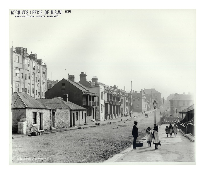 Gloucester Street looking north, The Rocks by State Records NSW, via Flickr