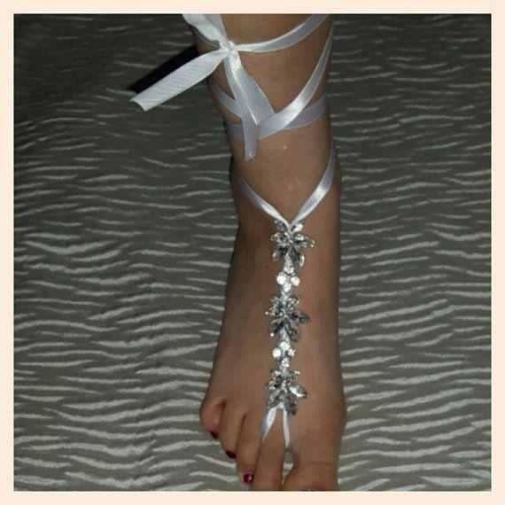 Een paar kristallen bloemen strand bruiloft door Craftnewworld