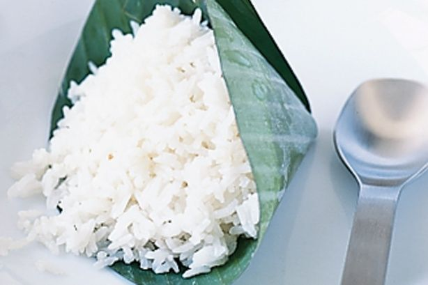 Serve this authentic coconut rice as a side dish at your Asian themed dinner party - it can be prepared in advance and only needs 4 ingredients.