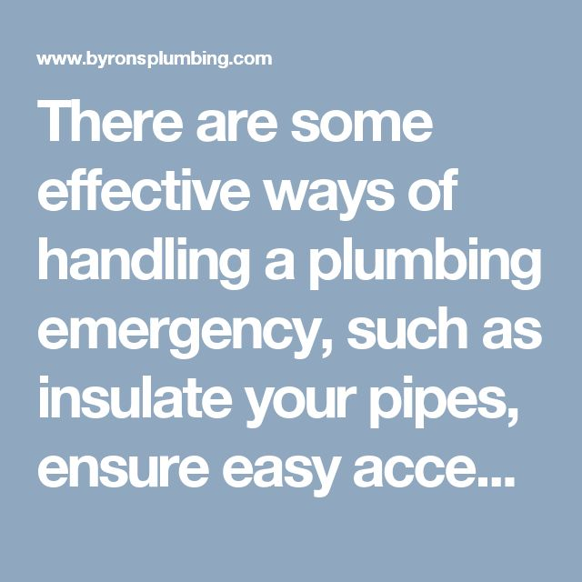 There are some effective ways of handling a plumbing emergency, such as insulate your pipes, ensure easy access, dealing with a plumbing emergency, in the case of indoor faucets freezing and frozen, cracked or broken pipes. A help from a plumber can in NW Calgary can be taken