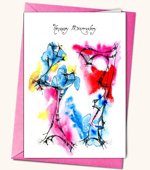47th Birthday Greeting card Personalised cards by LubaFenwickGifts