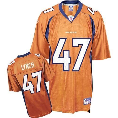 Reebok Denver Broncos John Lynch 47 Orange Authentic Jerseys Sale