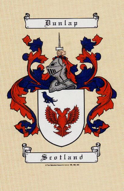 Dunlap Family crest  | Other Dunlop Families that have descended from the Dunlops of Dunlop ...