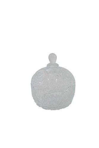 Amelie Ornate Glass Jar with Lid (11W x 11D x 13H cm) RRP $4