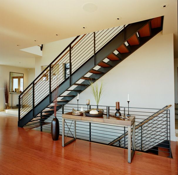 Metal Railing Stairs Metal Stair Railing Ideas Pictures Remodel And Decor