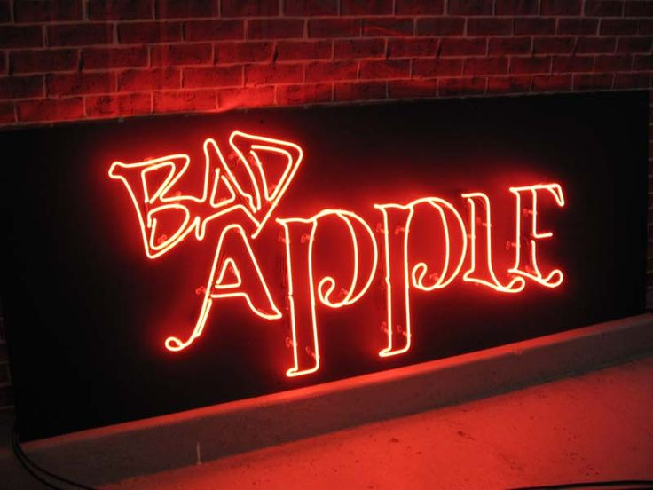 'Bad Apple. Neon by Neon Creations Ltd