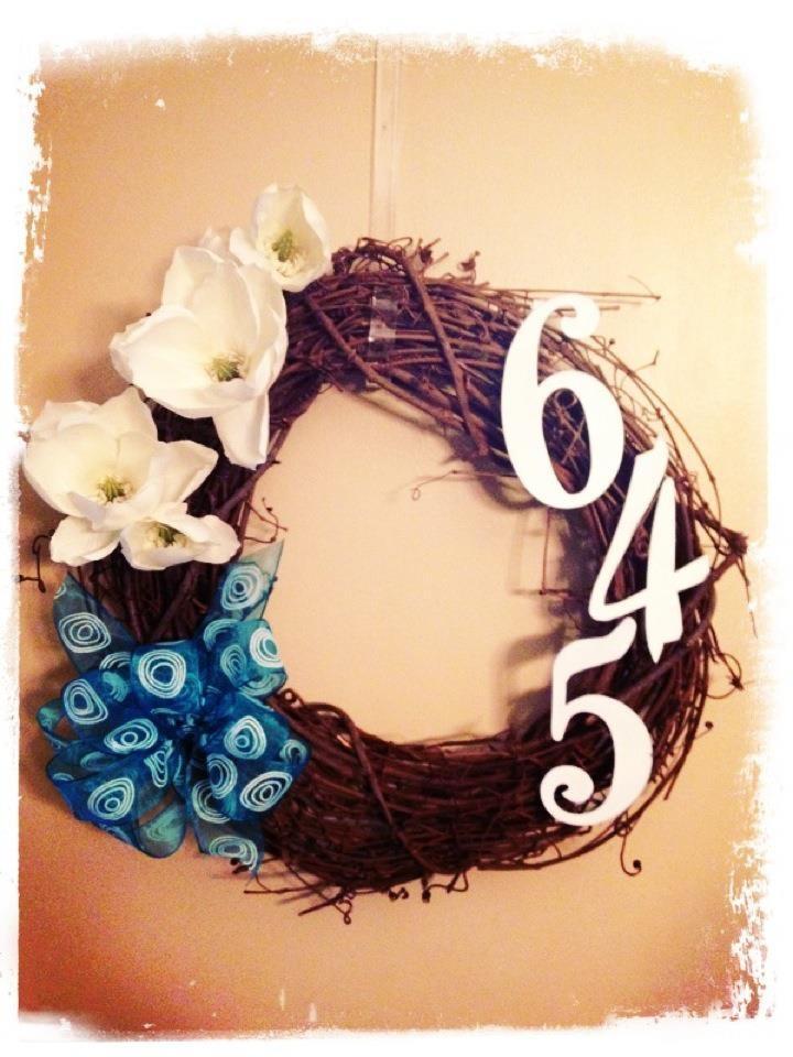 My first Pinterest-inspired wreath!