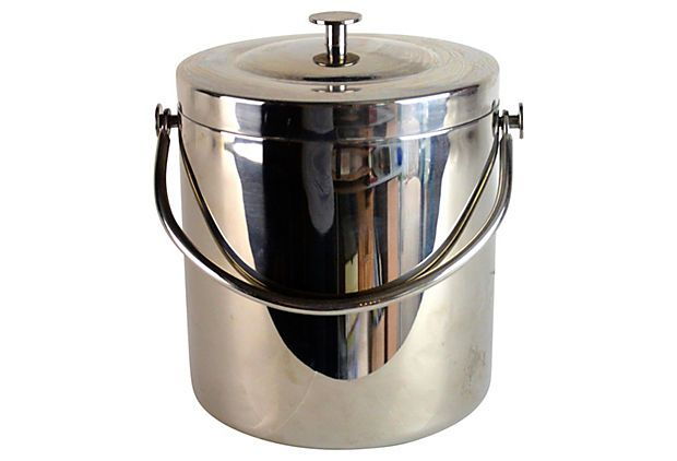 Midcentury Chrome Ice Bucket on OneKingsLane.com