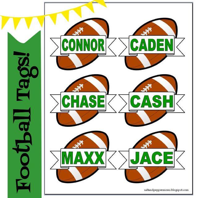 Free Football Snack Tag Printables