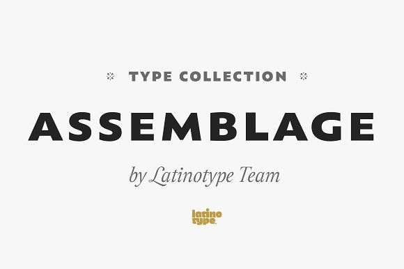 Assemblage by Latinotype on @creativemarket