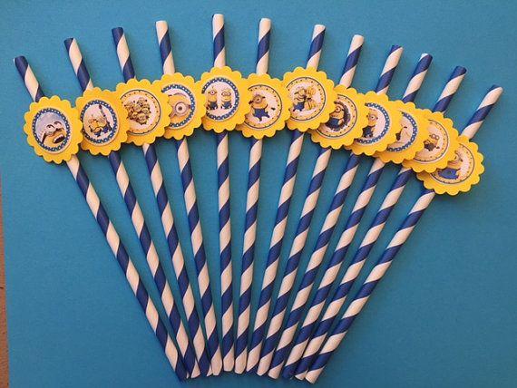Despicable Me Minion Birthday Party Minion Party Favor Straws Minion  Decoration Minion Cupcake Minion Cake