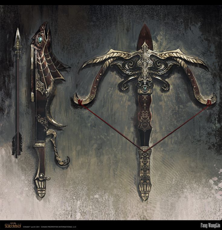 Persian crossbow Picture  (2d, illustration, fantasy, weapon, crossbow)