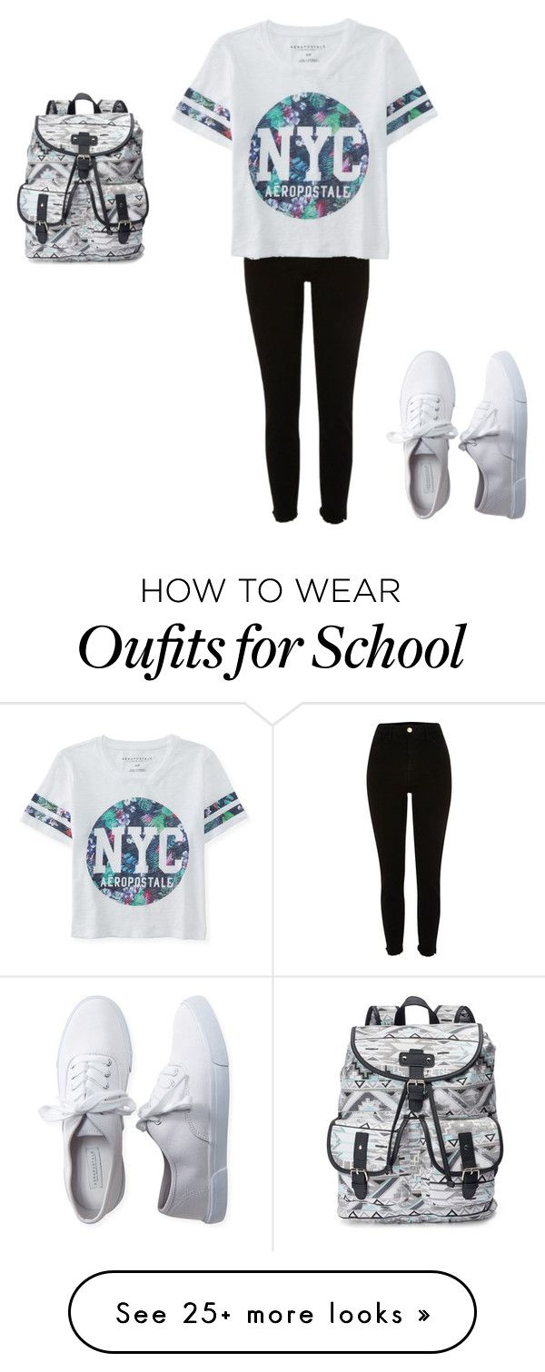 """""""School days"""" by lexiebigsis on Polyvore featuring Aéropostale and Candie's"""