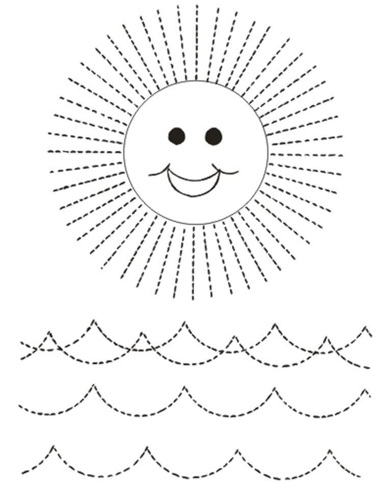 Dibujos infantiles para puntear, trazar y dibujar