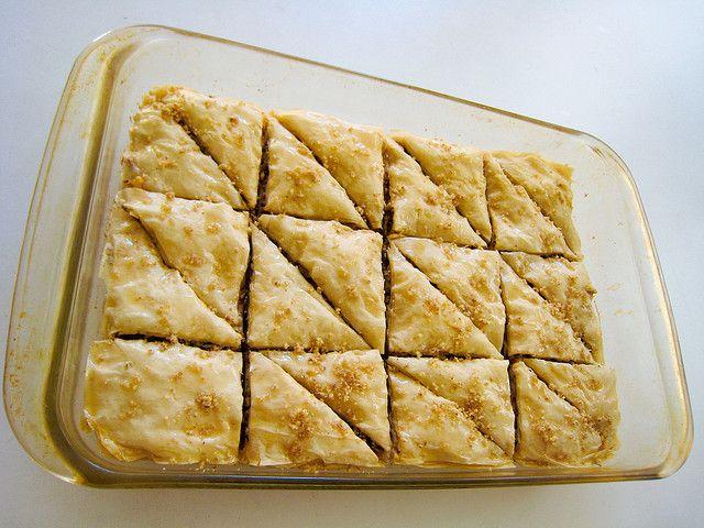 This Vegan Pecan Walnut Baklava recipe features layers of phyllo dough ...