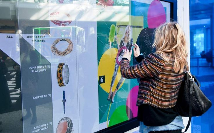 Futurefashion includes touchscreens and social media connectivity