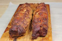 In this smoked pork tenderloin recipe, I brine it in apple juice, smoke it with apple wood then use my version of apple barbecue sauce to finish it off.